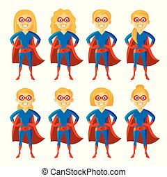 Superhero Cartoon character - Superhero Woman Supermom Set...