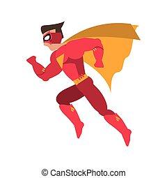 superhero, comique, conception, avatar, surhomme