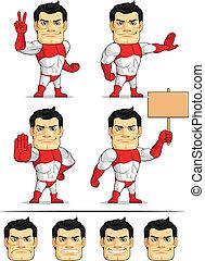 Superhero Customizable Mascot 7 - A customizable vector set...