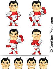 Superhero Customizable Mascot - A customizable vector set of...