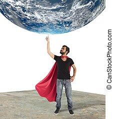 superhero, di, mondo