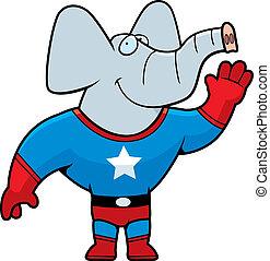 superhero, elefante