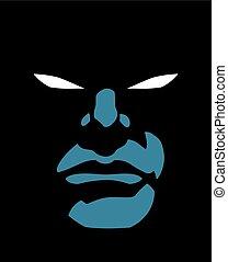 Superhero Face Dark