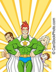superhero, famiglia