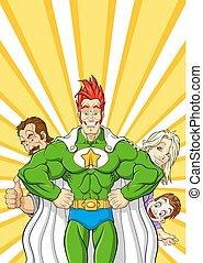 superhero, famille