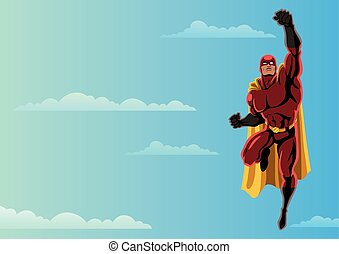 Superhero Flying 2 Sky