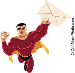 Superhero Flying Envelope