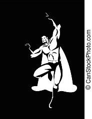 Superhero Flying Pose