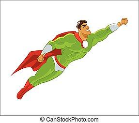 Superhero flying