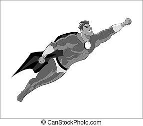 superhero, flying.
