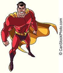 Superhero From Above - High-angle full length illustration ...
