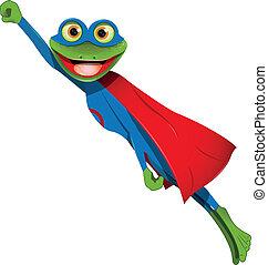 superhero, grenouille