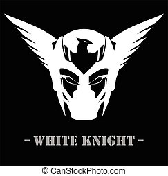 Winged White Mask
