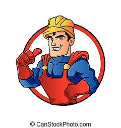 superhero, heimwerker