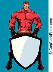 Superhero Holding Shield 2