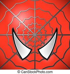 Superhero Icon. Mask - Superhero Red Icon. Mask Large Eyed ...
