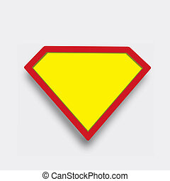 Superhero icon symbol sign on gray background with soft shadow