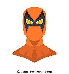 Superhero illustration in flat cartoon style