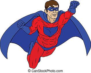 superhero, ilustración