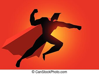 Superhero in action pose