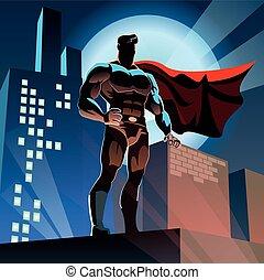 Superhero in City