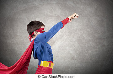 superhero, kostüm, kind
