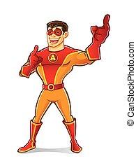 superhero, lach, mooi