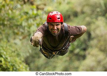 Zip Line Adventure In Ecuadorian Rainforest Banos De Agua Santa
