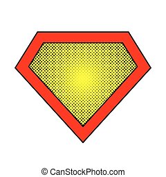 Superhero logo. Vector illustration. - Bright superhero...