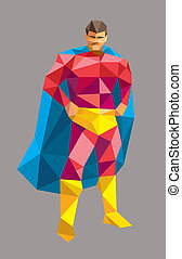 Superhero low poly style