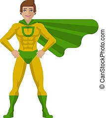 Superhero Man Cartoon