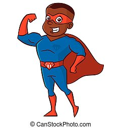 Superhero man Cartoon character