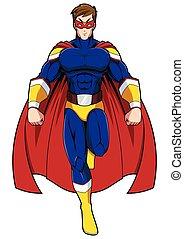 Superhero Mascot Flying