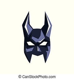 Superhero mask with horns vector Illustration on a white background