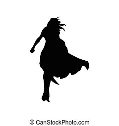 superhero, mulher, silueta