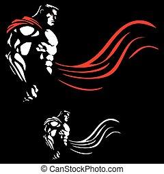 Superhero on Black