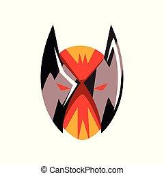 Superhero or villain mask vector Illustration on a white background