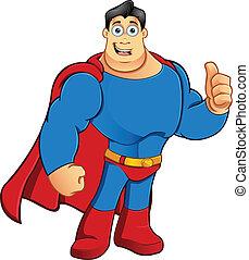 superhero, -, pollici