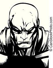 Superhero Portrait Line Art