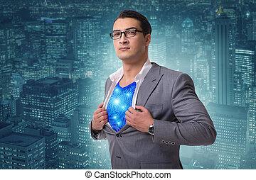 superhero, preparare, risparmiare, città