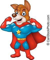 superhero, proposta, cartone animato, cane