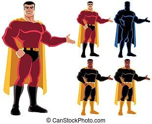 superhero, przedstawiając