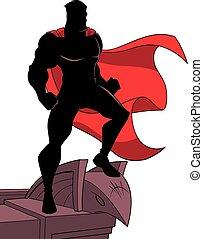 Superhero Roof Silhouette