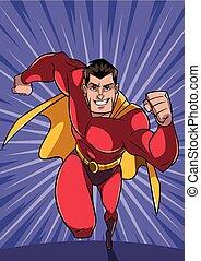 Superhero Running Fast