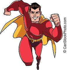 Superhero Running Frontal View