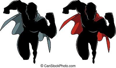 Superhero Running Silhouette