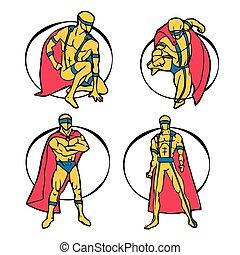 superhero, set
