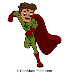 Superhero speedster cartoon - Superguy running cartoon...