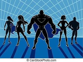 superhero, squadra, 2