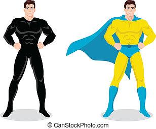 Superhero - Stock vector of a superhero posing